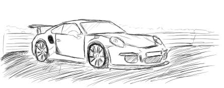 Porsche Zeichnung