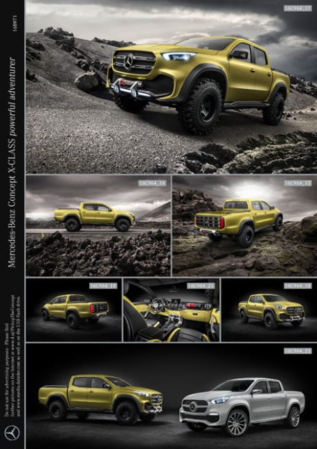 Mercedes-Benz Concept X-CLASS powerful adventurer ; Mercedes-Benz Concept X-CLASS powerful adventurer;