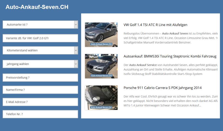 AutoAnkauf Seven |Anzeige