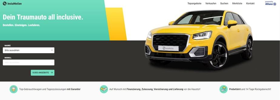 InstaMotion – der neue Weg Autos zu kaufen –Anzeige