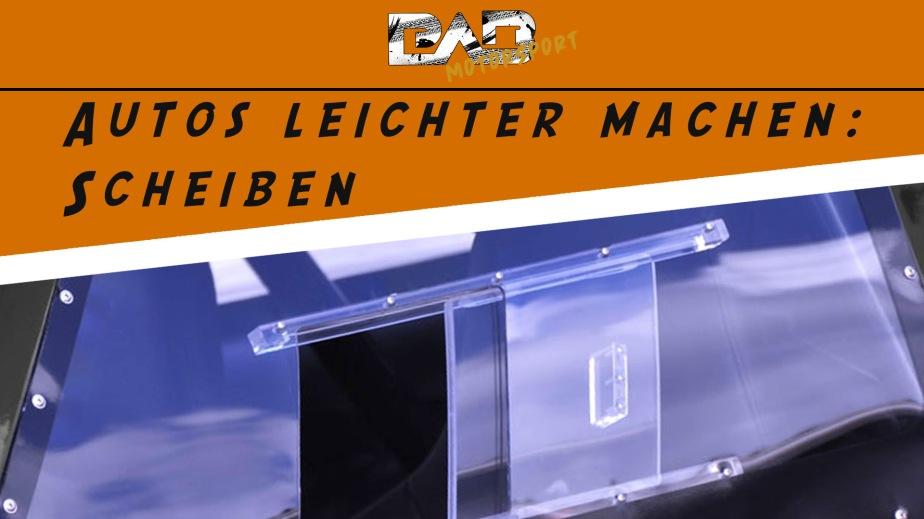 Autos leichter machen: Polycarbonatscheiben/Makrolonscheiben